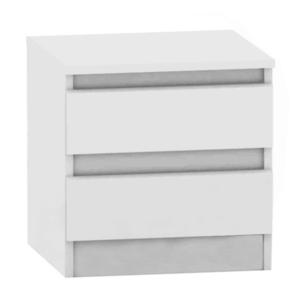 2 fiókos éjjeliszekrény, fehér, HANY NEW 002 kép