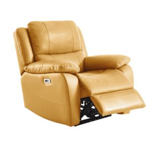 Elektromos relaxációs fotel, bőr/ekobőr sárga, VIVAN kép