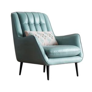 Dizájner fotel, bőr/ekobőr, neomint/fekete, LINSY kép