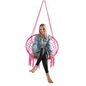 Függő szék, pamut+fém/rózsaszín, AMADO 2 NEW kép