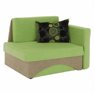 Kanapé fotel ágyfunkcióval, zöld+bézs színű, jobb oldali kivitel, KUBOS kép