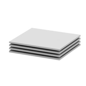 Polc szekrénybe, fehér, 4 db, 41, 8x51, 8, BETTY 2 BE02-013-00 kép