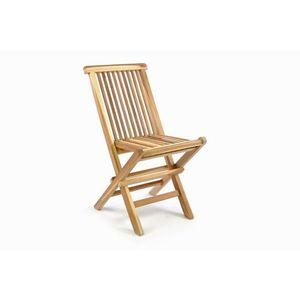 Összecsukható fa kerti szék kép
