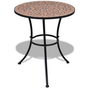 vidaXL terrakotta mozaik bisztró asztal 60 cm kép