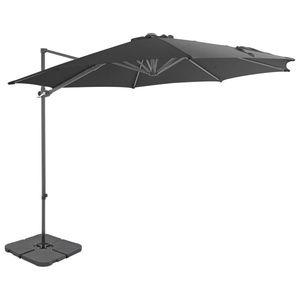 vidaXL antracitszürke kültéri napernyő hordozható talppal kép
