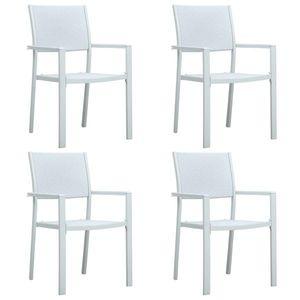 vidaXL 4 db fehér rattan hatású műanyag kerti szék kép