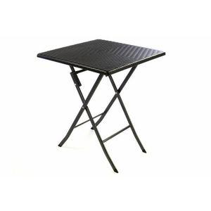 Összecsukható kerti asztal GARTHEN Rattan 61 x 61 cm kép