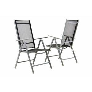 Kerti szék összecsukható 2 db - fekete kép