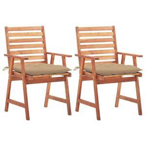 vidaXL 2 db barna kültéri tömör akácfa szék kép