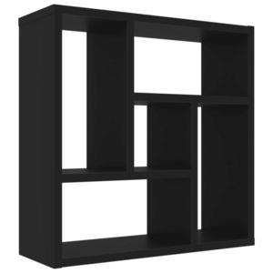 vidaXL fekete forgácslap fali polc 45, 1 x 16 x 45, 1 cm kép