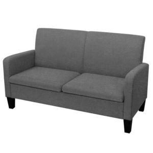 vidaXL sötétszürke 2 személyes kanapé 135 x 65 x 76 cm kép