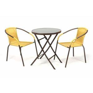 Kerti bútor készlet BISTRO - világos barna kép